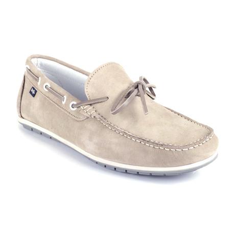 Socean Suede Boat Shoe // Beige (Euro: 39)