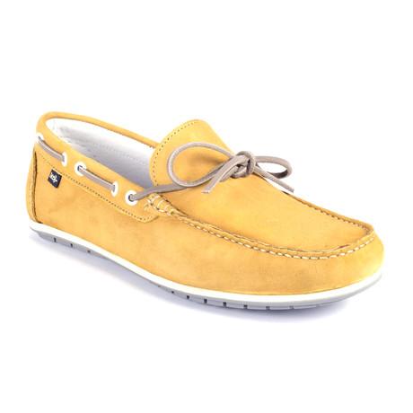Socean Suede Boat Shoe // Yellow (Euro: 39)