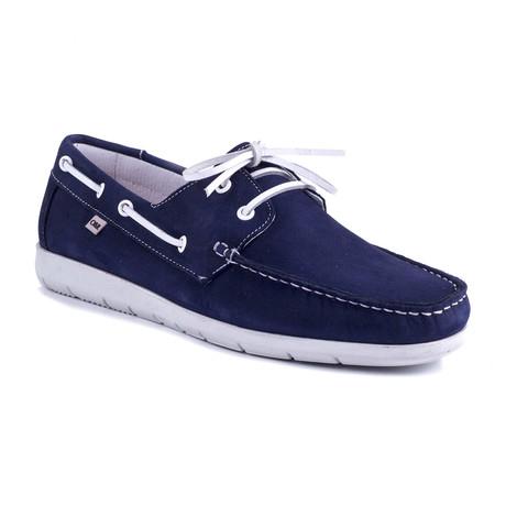 Nobita Nubuck Boat Shoe // Blue (Euro: 39)