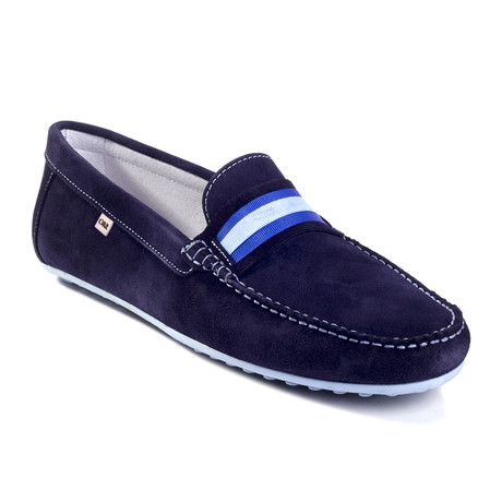 Rt-Seon Suede Moccasin // Blue (Euro: 39)