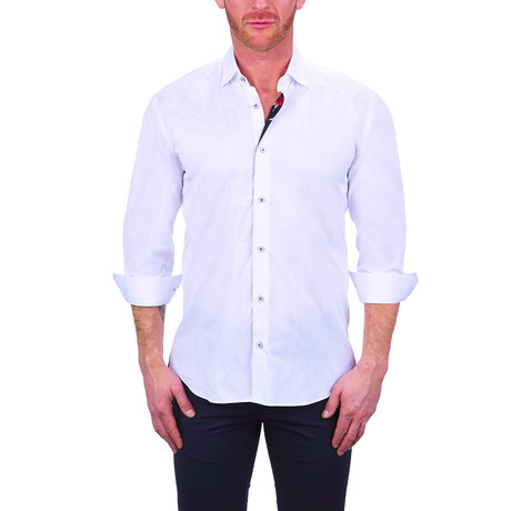 Fibonacci Skull Dress Shirt // White (S)