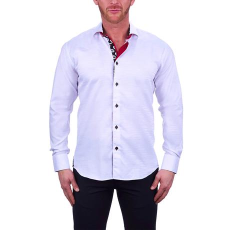 Einstein Wave Dress Shirt // White (S)