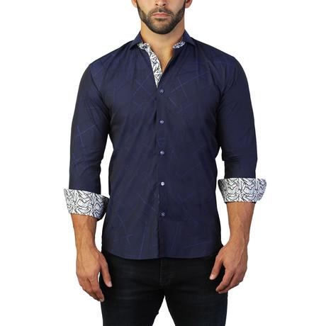 Fibonacci Direction Dress Shirt // Blue (S)