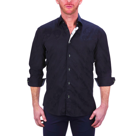 Fibonacci Skull Dress Shirt // Black (S)