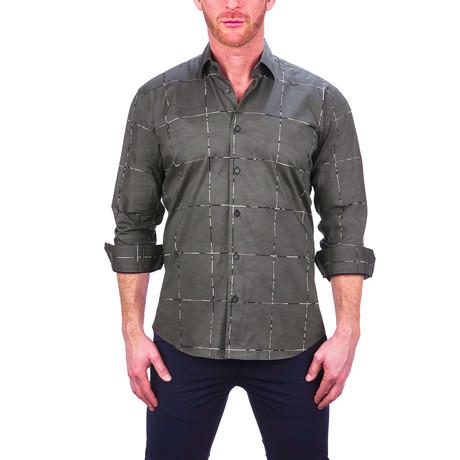 Fibonacci Army Square Dress Shirt // Gray (S)