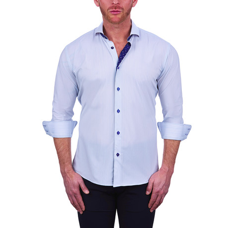 Einstein Mid Check Dress Shirt // White (S)