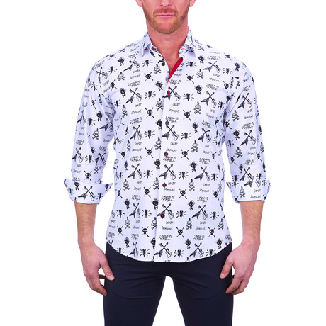 Fibonacci Rock + Roll Dress Shirt // White (S)