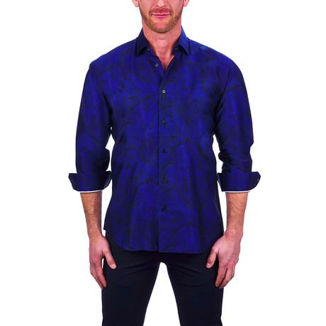 Fibonacci Lion Dress Shirt // Blue (S)