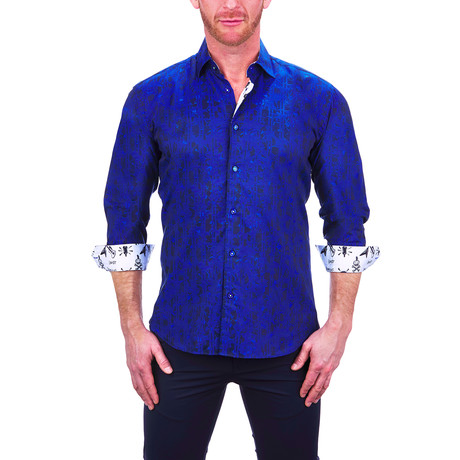 Fibonacci Plasma Dress Shirt // Blue (S)