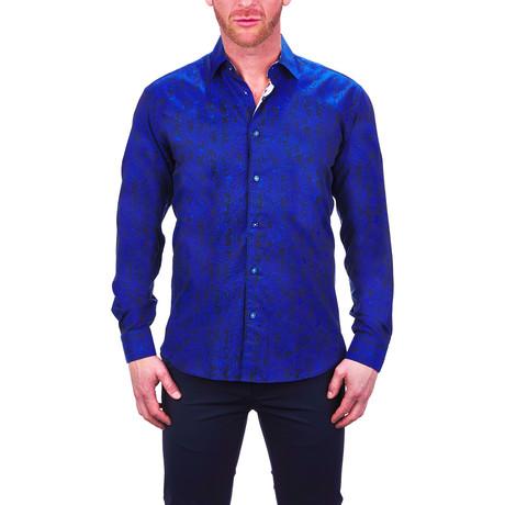 Fibonacci Confused Dress Shirt // Blue (S)