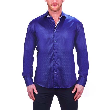 Einstein Hexagon Dress Shirt // Blue (S)