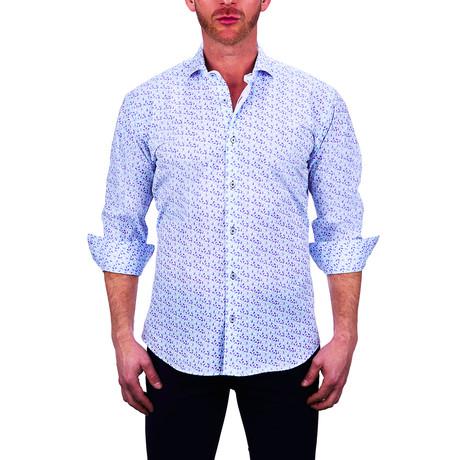 Einstein Paisley Dress Shirt // White (S)
