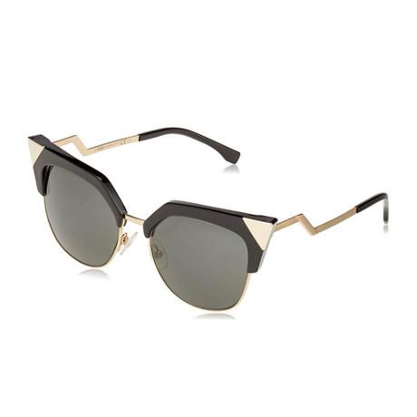Women's 0149 Sunglasses // Black + Gold + Gray