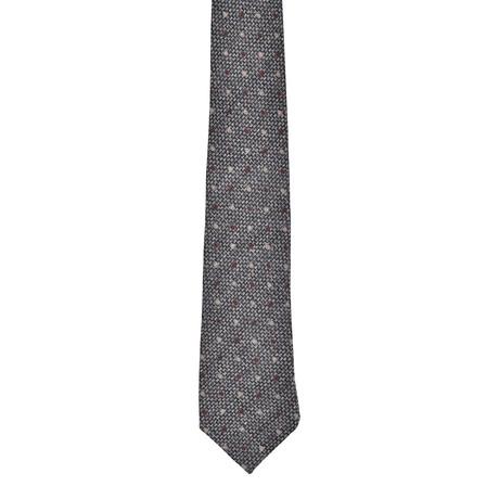 Wool + Silk Blend Skinny Knit Tie // Dark Gray