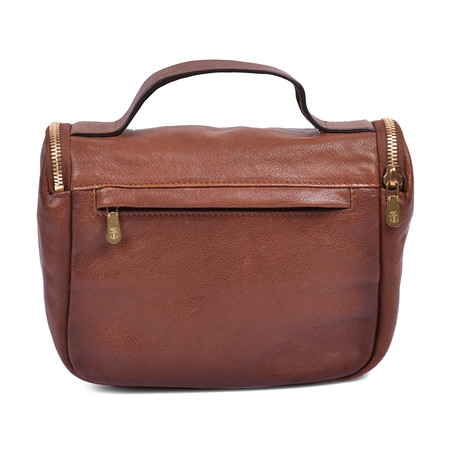 Brunello Cucinelli // Leather Personal Care Bag // Brown