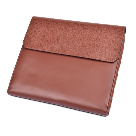 Brunello Cucinelli // Leather Portfolio // Brown