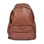 Leather Backpack // Brown