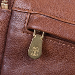 Leather Personal Care Bag // Brown