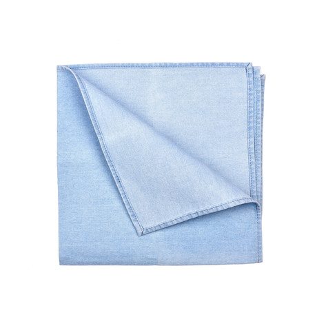 Brunello Cucinelli // Pocket Square // Light Denim