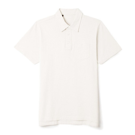 Sueded Cotton Polo // White (S)