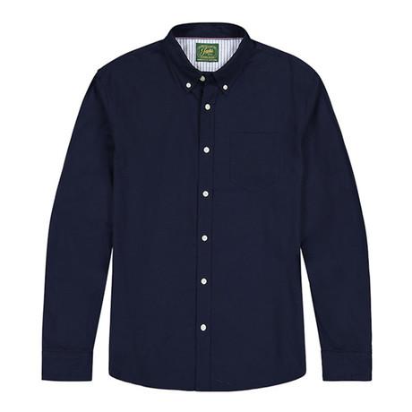 Stretch Oxford Ls Shirt // Navy (S)