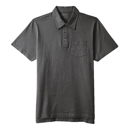 Sueded Cotton Polo // Dark Heather Gray (S)