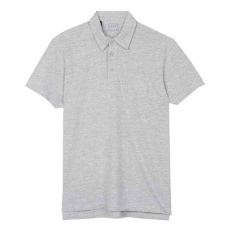 Sueded Cotton Polo // Light Heather Gray (S)