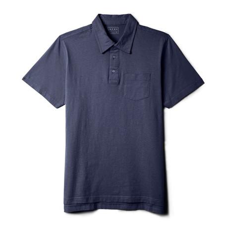 Sueded Cotton Polo // Indigo (S)