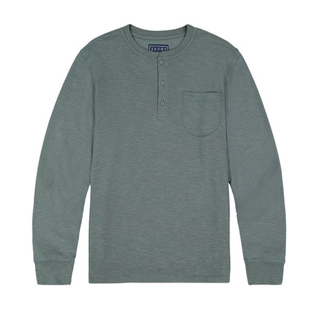 Waffle Ls Henley // Pond Pine (S)