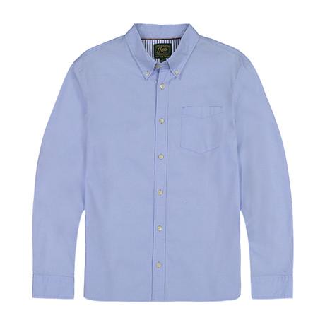 Stretch Oxford Ls Shirt B03 // Blue (S)
