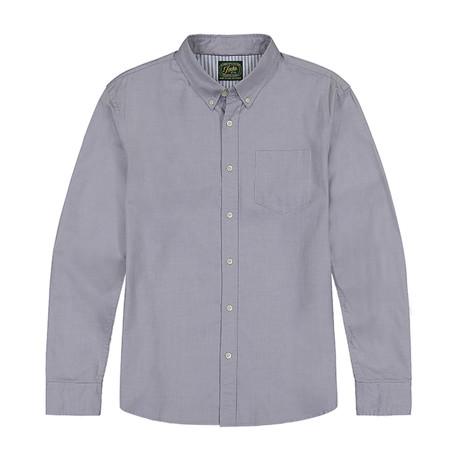 Stretch Oxford Ls Shirt // Gray (S)