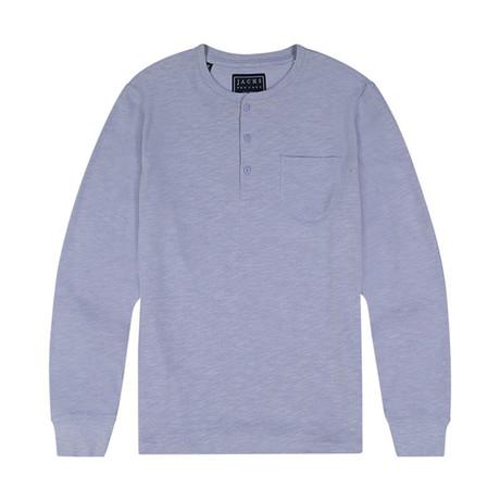Slub Cotton Ls Henley // Zen Blue (S)