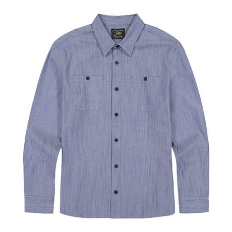 Stretch Chambray Ls Shirt // Indigo (S)