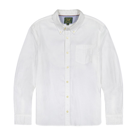 Stretch Oxford Ls Shirt // White (S)