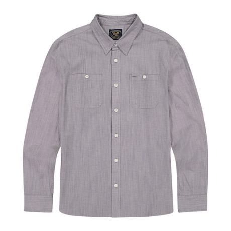 Stretch Chambray Ls Shirt // Gray (S)