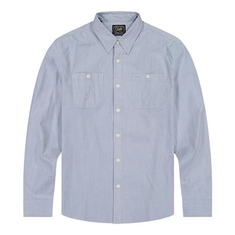 Stretch Chambray Ls Shirt // Light Blue (S)
