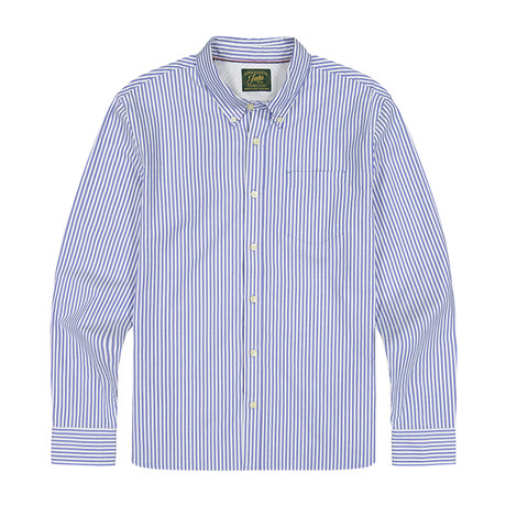 Stretch Oxford Ls Shirtb06 // Blue (S)