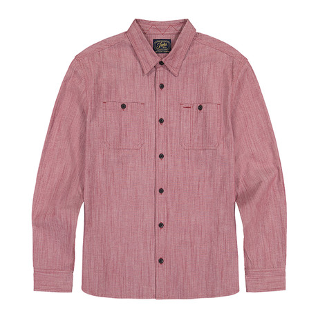 Stretch Chambray Ls Shirt // Red (S)