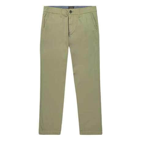 Bowie Straight Fit Stretch Chino Pant // Olive (29WX32L)