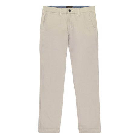 Bowie Straight Fit Stretch Chino Pant // Gray (29WX32L)