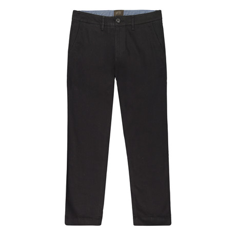 Bowie Straight Fit Stretch Chino Pant // Black (29WX32L)