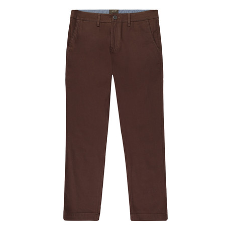 Bowie Straight Fit Stretch Chino Pant // Brown (29WX32L)