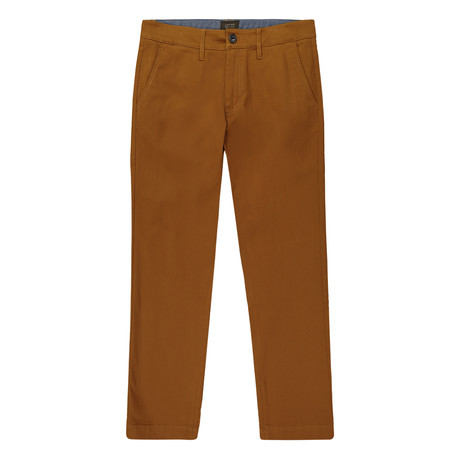 Bowie Straight Fit Stretch Chino Pant // Copper (29WX32L)