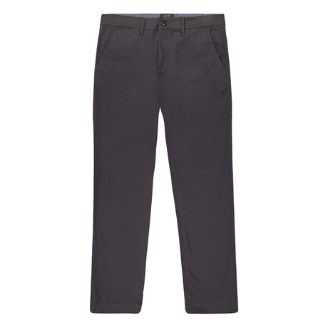 Bowie Straight Fit Stretch Chino Pant // Charcoal (29WX32L)