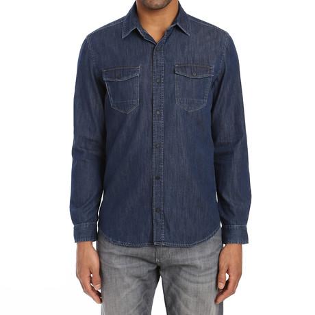 Rio Brushed Shirt // Deep Indigo (S)