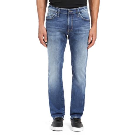 Matt Mid Brushed Jeans // Medium Blue (28WX32L)