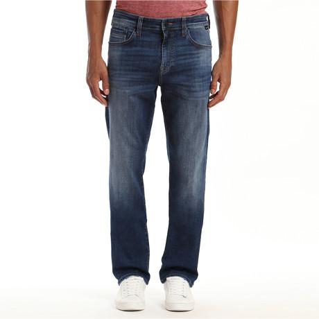 Matt Dark Brushed Organic Move Jeans // Dark Blue (28WX32L)