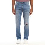 Zach Ripped Authentic Vintage Jeans // Light Blue (28WX32L)