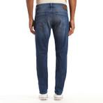 Jake Distressed Authentic Vintage Jeans // Medium Blue (28WX32L)