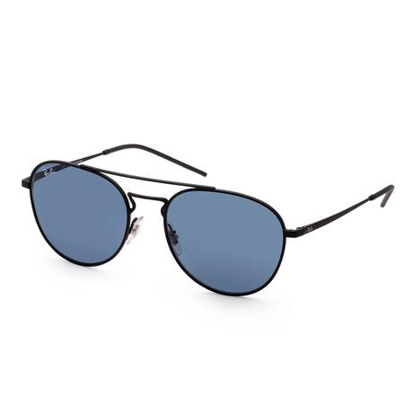 Unisex RB3589-90148055 Sunglasses // Black Rubber + Blue
